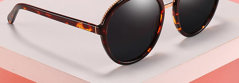 Women Sunglasses Frame Glasses Polariod Lens UV400 Polarized Sunglasses Women Fashion Round Frame Eyewear Glasses (9)