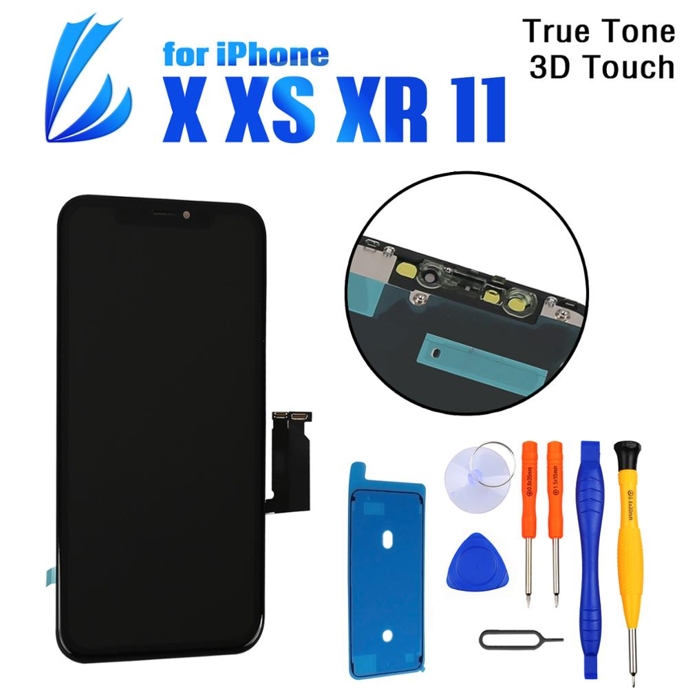 100% Tested LCD Pantalla For iPhone X XR XS 11 Screen Replacement LCD Display 3D Touch Screen Phone Part Digitizer Assembly+Tool