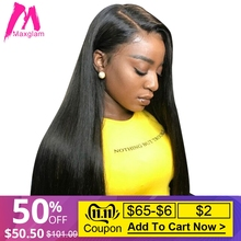 Wigs Short Lace-Frontal Human-Hair Afro Pre-Plucked Remy Natural Straight Black Women