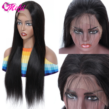 Wigs Lace-Front-Wig Human-Hair Mifil Pre Plucked Straight 30inch Brazilian Black Women