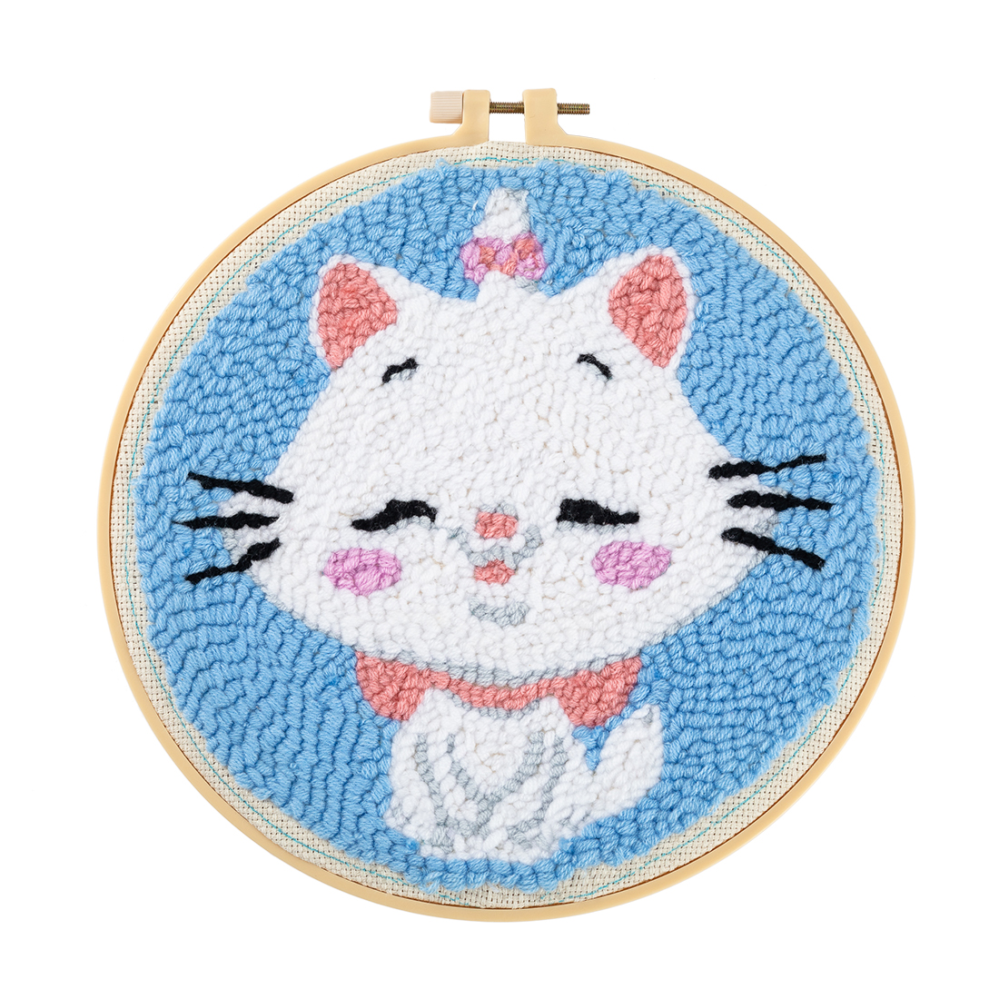 Pig HMANE Rug Hooking Kit DIY Handcraft Woolen Embroidery Knitting Kit with Punch Needle Embroidery Frame Creative Gifts for Girls