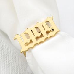 Золотое кольцо для женщин и мужчин, набор колец с цифрами на год, кольца из нержавеющей стали, Anillos Mujer, обручальное кольцо, ювелирное изделие