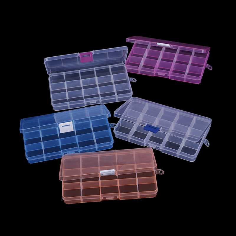 1pcs 15 Grids Slots Tools Packaging Box Portable Practical Diy Electronic Spare Storage Screw Jewelry Tool Case New