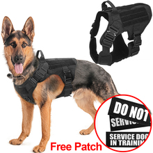 Leash Dog-Vest Metal-Buckle Pet-Training German Shepherd Military Small Large Dogs K9