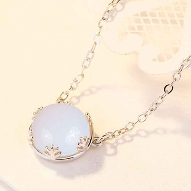 The Moon Necklace Pendant Necklace Silver Color Chain Luminous Jewelry Women Gifts