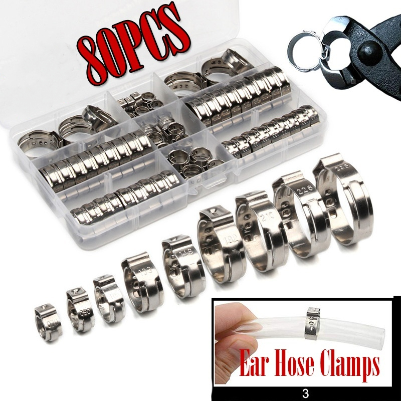 12 x Jubilee Type Hose Clamps Steel Pipe Clips Maintenance Clamp Assorted Size 20MM-30MM