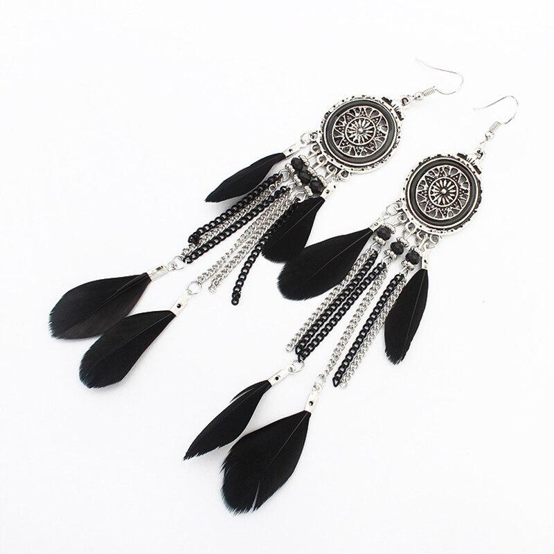Boucles d'Oreilles Attrape Rêvesen Argent Noir bijoux femme tenue unique style chic et bohème turquoise belle or massif style indien amérindienne capteurs de rêves