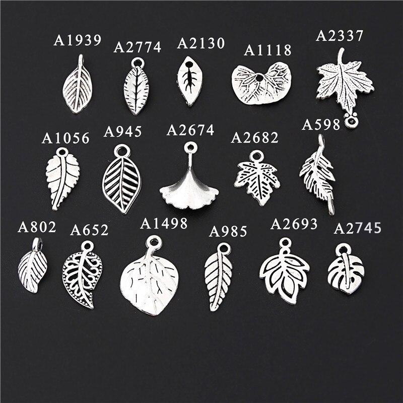 100 piezas bronce filigrana hueco hoja encantos colgantes joyas bricolaje