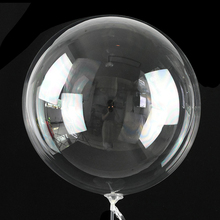 Christmas-Wedding Ballons Bubble Clear Birthday-Party-Decorations Transparent Bobo Luminous