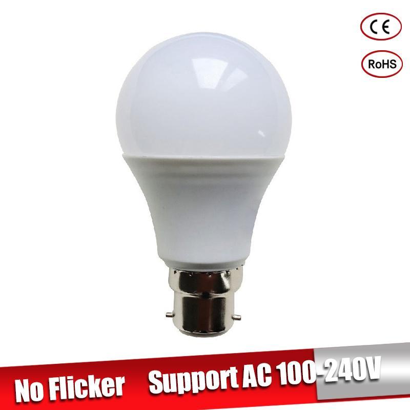 LED Lamp B22 LED Lampada Ampoule Bombilla 3W 5W 7W 9W 12W 15W 18W High Brightness 220V 110V Cold/Warm White Led Light Bulb