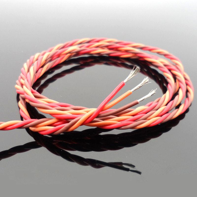 28FT//8.5Meter 22AWG Servo Wire 3P Line Extension Cable 60 Core Brown//Red//Orange