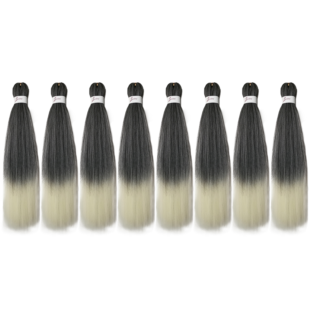 Bottle - Ombre Braiding Hair Extensions Easy Crochet Braid Hair Bundles Yaki Straight SOKU Pre Stretched Synthetic Jumbo Box Braids Hair