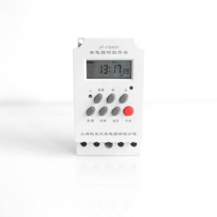 Neu 25a 240 V Programmierbare Timer Schalter Din Timer Digital Mit 10 Mal Drehen Auf/off Pro Tag/ Wöchentlich Zeit Set Palette 1 Min-168 H Gute QualitäT Messung Und Analyse Instrumente Timer