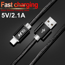 Olaf USB Type C Cable Fast Charging USB C Cable Samsung Galaxy S9 S8 Oneplus 6 Nylon Braided Data Sync Type-C Phone Cable