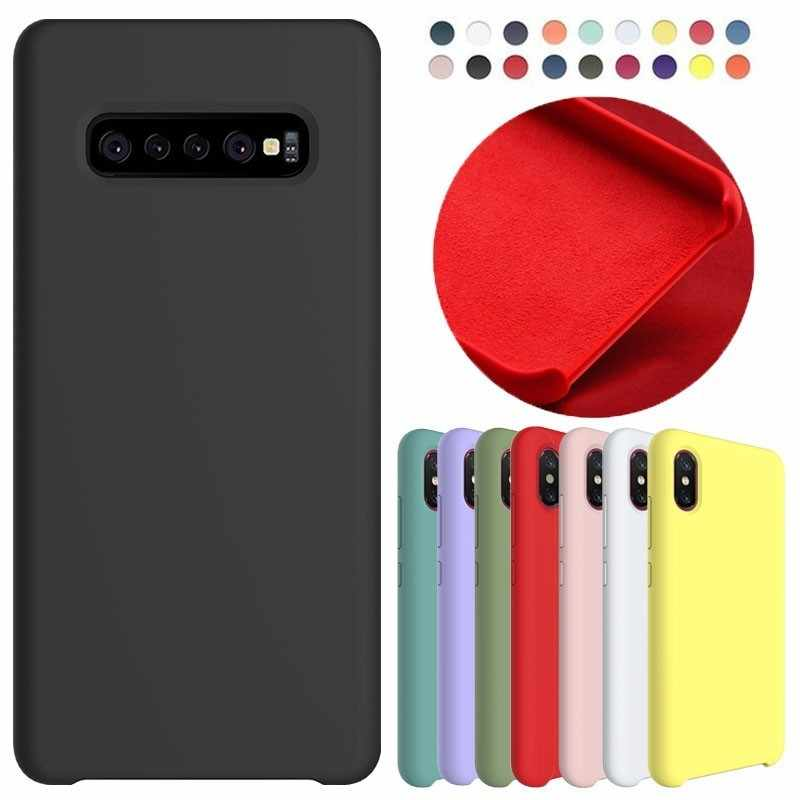 Original official Silicone Phone Case For Samsung Galaxy S8 S9 Plus Note 8 9 A8 2018 S8+ S9Plus Note8 Note9 Soft Back Cover Capa
