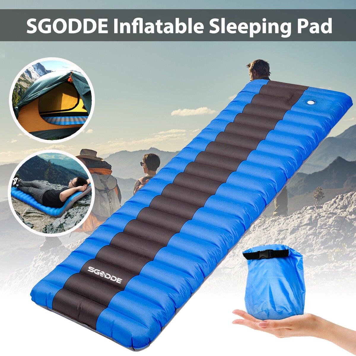 Camping Isomatte Luftmatratze Ultraleichte Aufblasbare Sleeping Pad Wasserfeste*