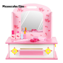 Gentil Childrenu0027s Little Princess Educational Toys Girl Dressing Table Set Play  House Wood Simulation Dressing Table Kitchen