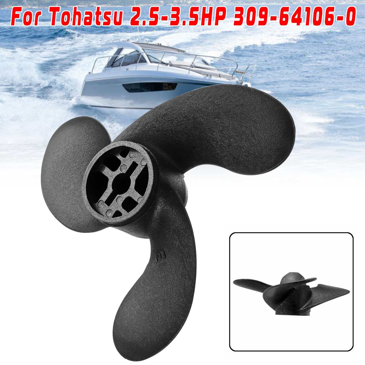 11.1 x 13 Aluminum Boat Propeller For Tohatsu//Nissan Outboard 35-50HP 3T5B645270