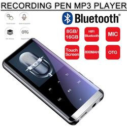 OTG mp3-плеер диктофон Bluetooth 4,2 сенсорный экран 1,8 дюймов Мини 800 мАч с HIFI 5D 8 ГБ/16 г ультра тонкий HiFi MP3-плеер