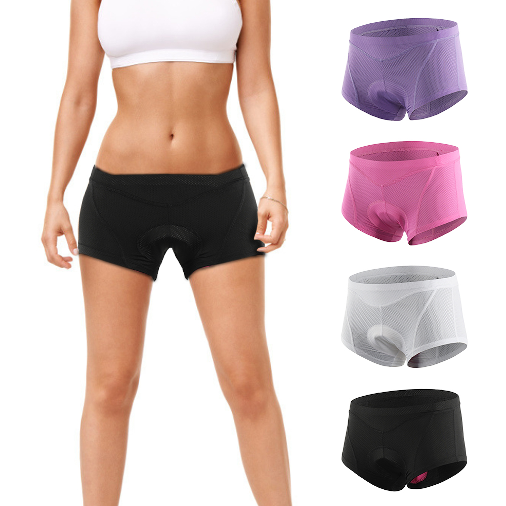 Womens Cycling Underwear Briefs 3D GEL Padded Cycling Quick Dry Triangle Shorts