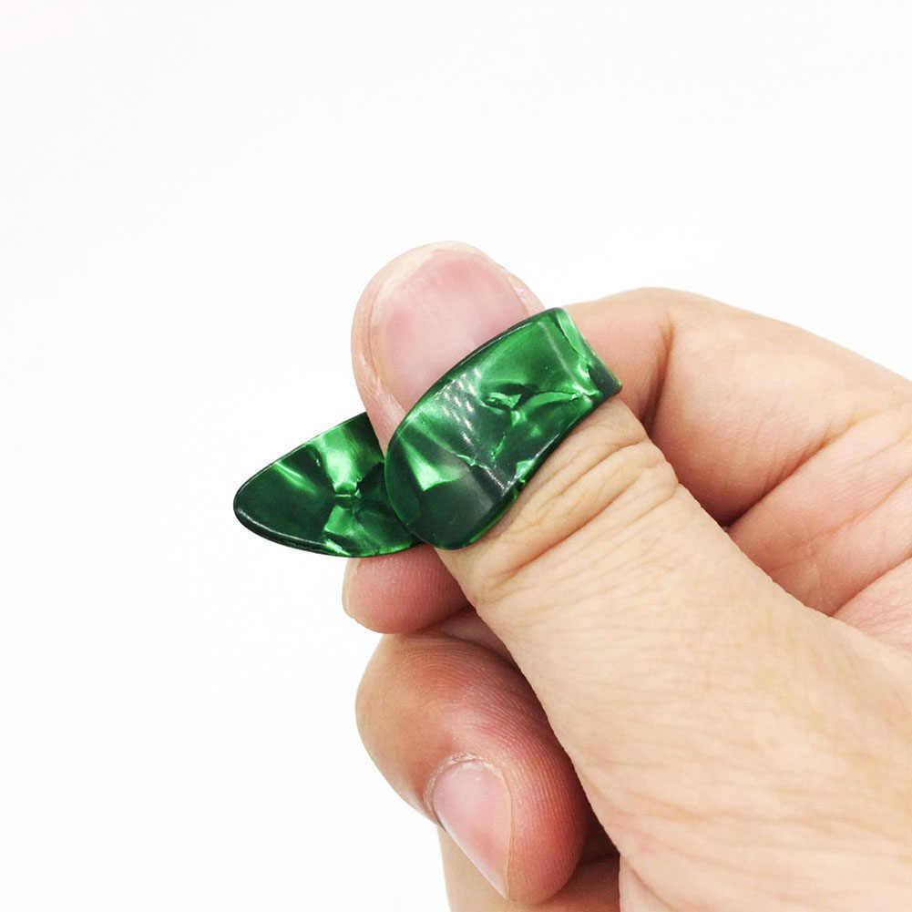 4 個ギターピックプロのプラスチック 1 親指と 3 指の爪ギター