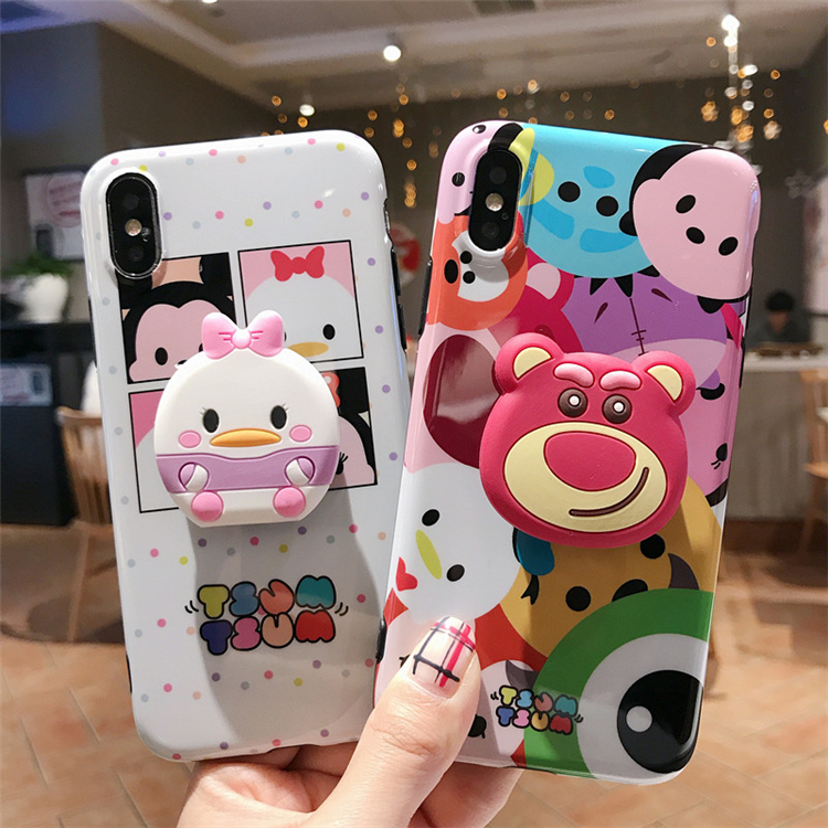 Phone Pouch Reliable Cartoon French Fries Popcorn Wireless For Iphone Airpods For Iphone Headset Case Couples Soft Tpu Cover Cases With The Ring Phone Bags & Cases