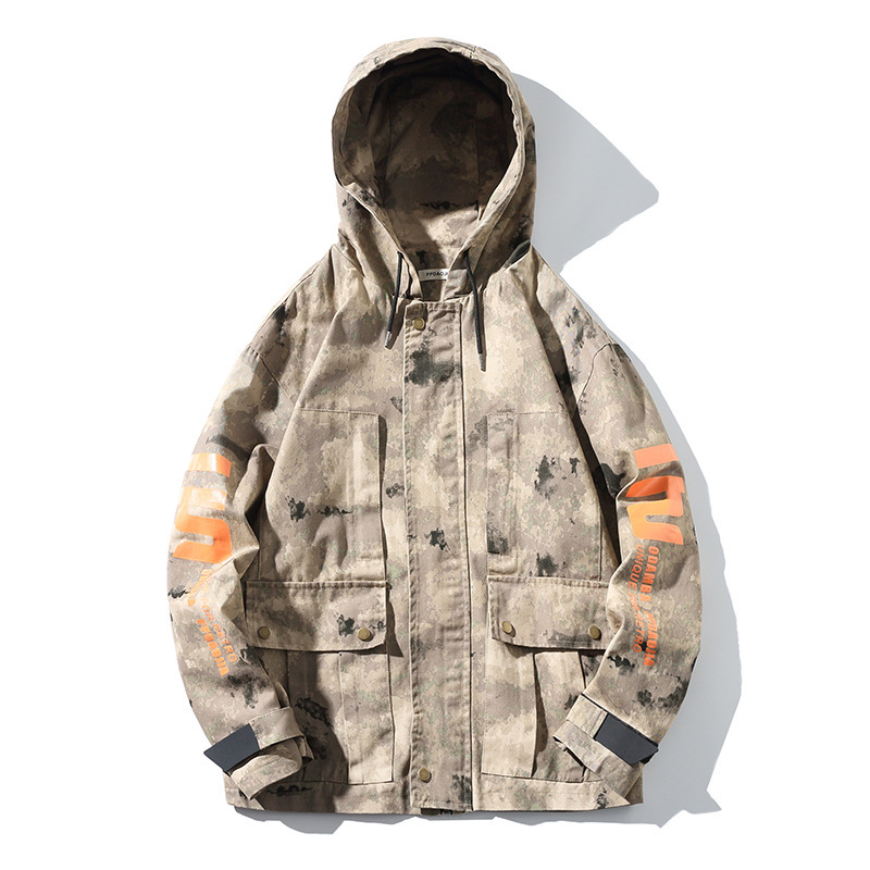 #2942 Spring Camouflage Jacket Men Camo Vintage Plus Size 5XL Loose Bomber Jacket Hooded Streetwear Hip Hop Jacket Windbreaker
