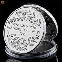 1993 Nobel Peace Prize Winner South Africa President Nelson Mandela Silver World Celebrity Commemorative Coin Collection(China)