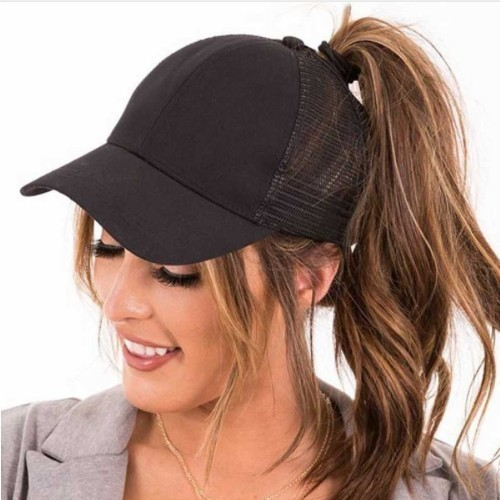 2019 New Glitter Ponytail Baseball Caps Sequins Shining High Quality Fashion Womens Messy Bun Adjustable Snapback Hip Hop Hat(China)