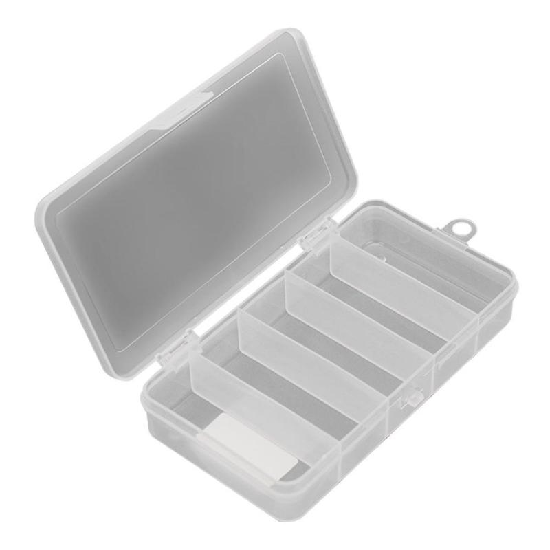 Organizer Fishing-Tackle-Box Boxes-Accessories Case Lure-Tool Storage-Container 5-Compartments title=