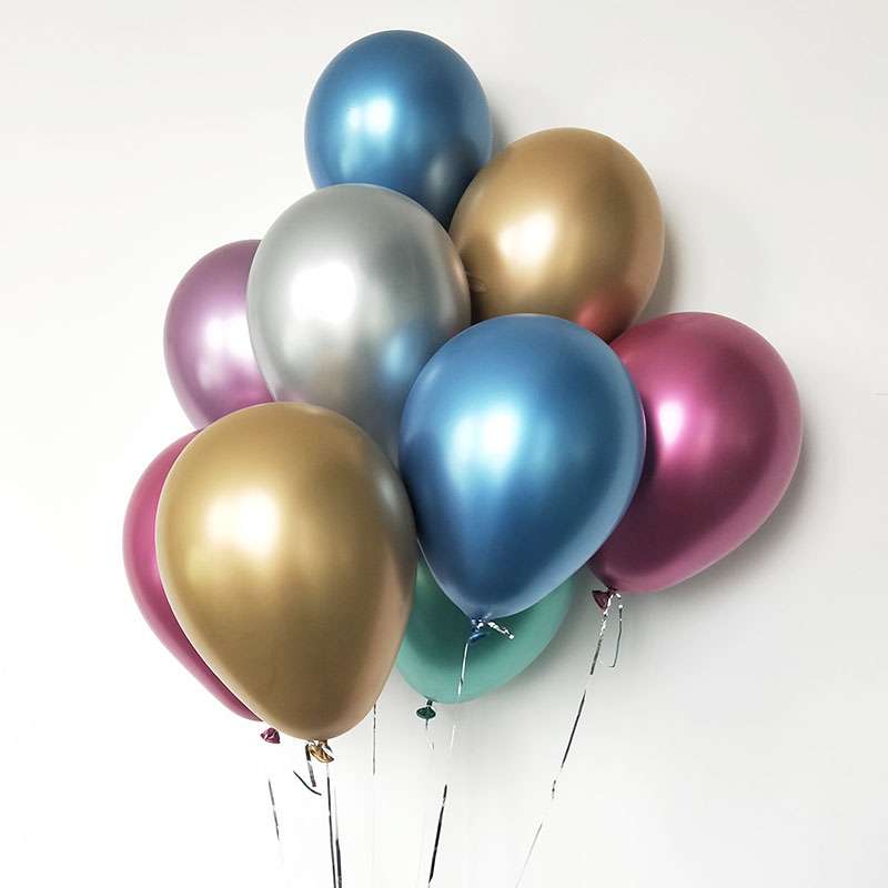 10PCS 12 inch Thick Metal Glossy Inflatable Latex Balloons Party Wedding Decor