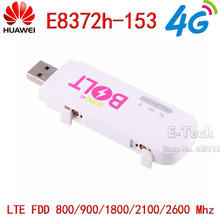 Desbloqueado Huawei E8372 E8372h-153 150 Mbps 4G módem USB Wifi LTE Wifi Dongle soporte 10 usuarios de Wifi negro blanco color(China)