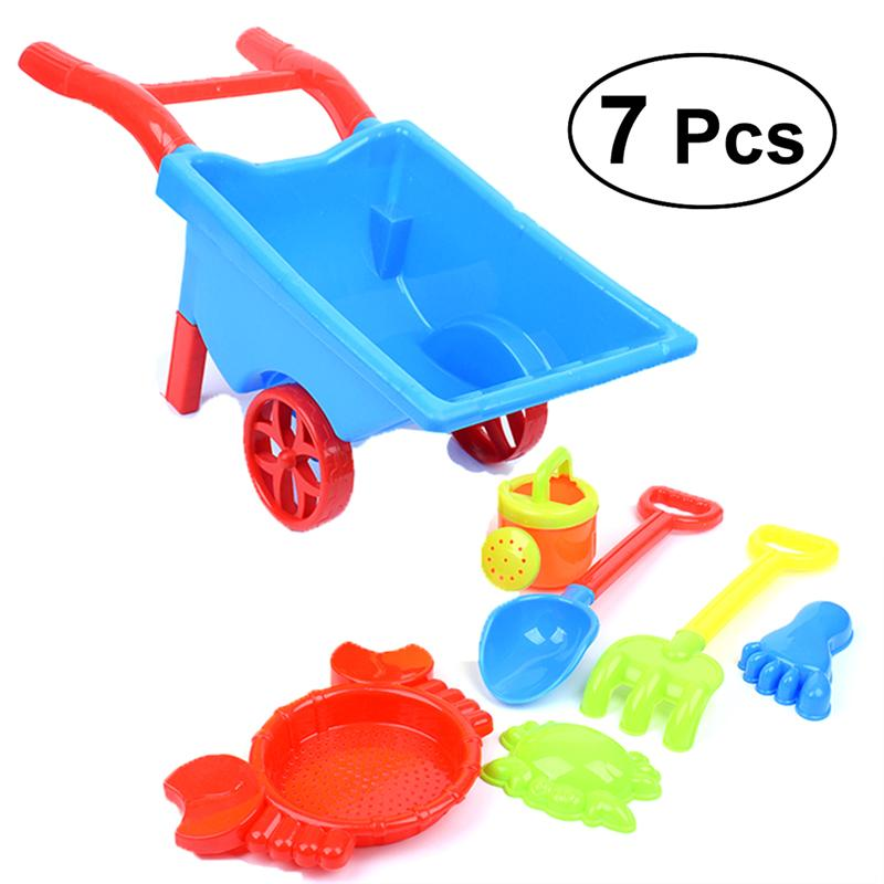 2019 New Beach Sand Toys 7pcs/ Set Creative Play set Beach Toys Sand Set Sandbox Toys Funny Gift For Kids Toddler Игрушка