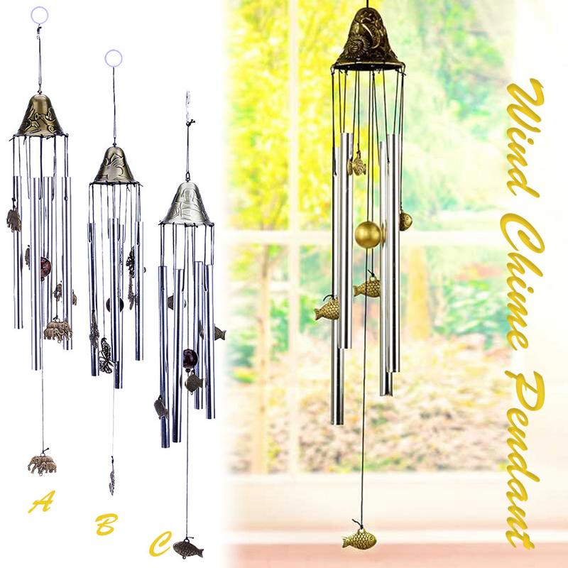 Chinese Vintage Metal Hanging Wind Chime DIY Decorative Outdoor Home