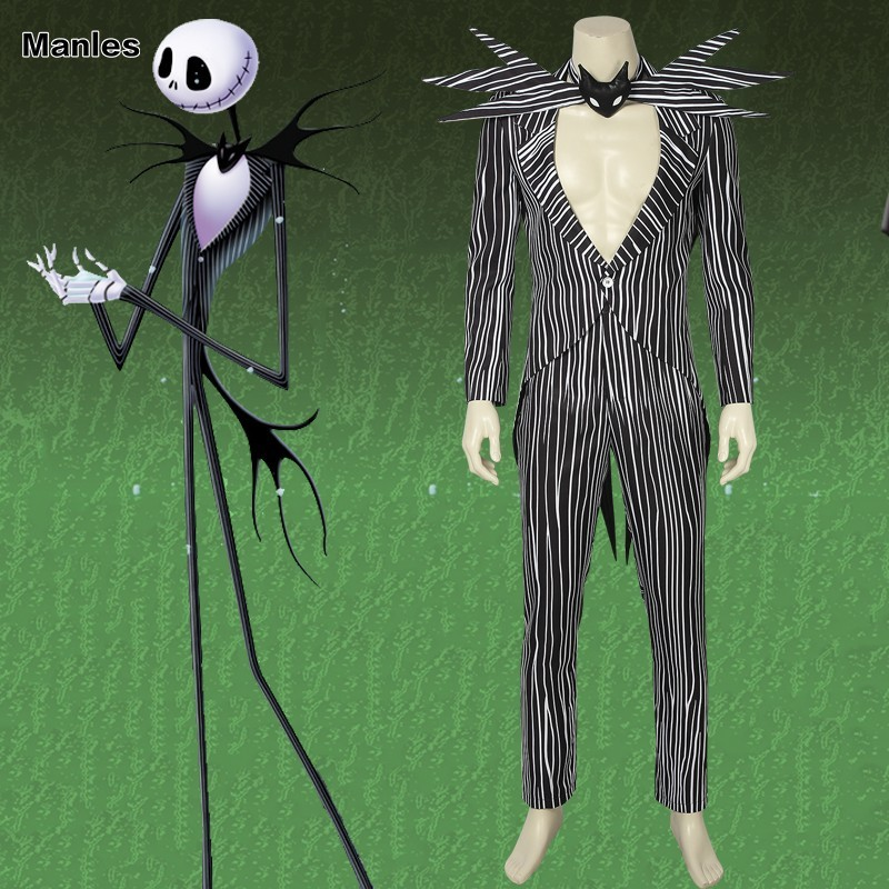 The Nightmare Before Christmas Cosplay Jack Skellington Costume Any Size