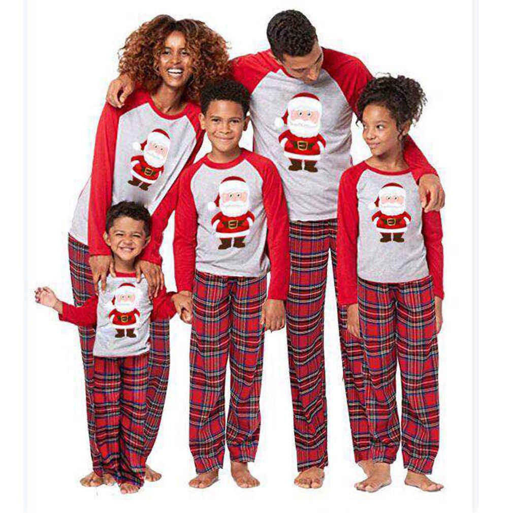 Christmas Family Matching Santa Cluas Pyjamas Set Xmas Pajamas Set New  Year s Costumes Adult Kids Nightwear a62d2ea3a9a6