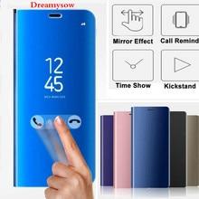 Leather Smart View Flip Case Redmi 6 6A 6 Pro Note4 5 4X 5A 5 Plus S2 Mirror Effect case Xiaomi mi8 8SE Mi6 5X 6X A1 A2