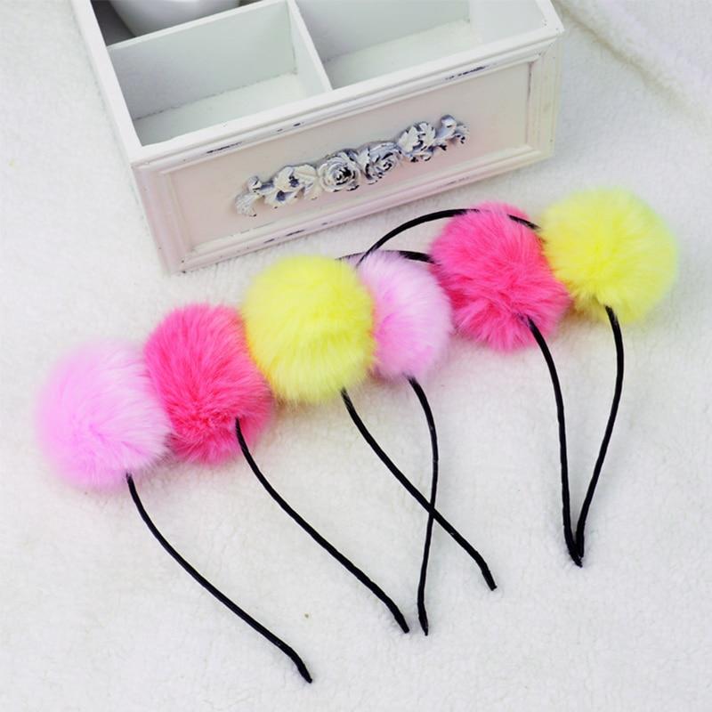 Adjustable Fuzzy Ball Hair Rope Hairy Valentines Gift Colours Wedding 1pc Elastic Pearl Korean Sunday Angora Yarns Imitation Fur Always Buy Good Women's Hair Accessories