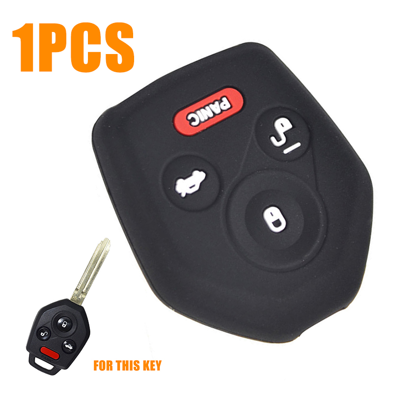 Silicone Skin Cover Remote Key Head Case For Subaru Forester Outback Legacy XV