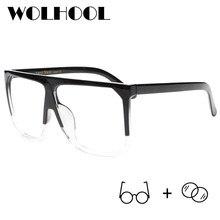 50d67c36e Moda Superdimensionada Óculos de Miopia Vidros Ópticos Quadros Senhora  Grande Armação dos óculos de Prescrição Óculos Vintage Vi.