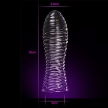 Buy 5 Styles Crystal Condoms Male Cock Ring Enlargement Delay Clit Massager Penis Extender Condom Vibrating Adult Sex Toys