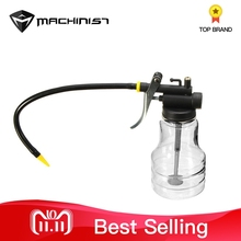 Buy 250cc High Pressure Pump Oiler Transparent Filling Oil Lubrication Oil Can Plastic Machine Oiler Grease 245mm Length Flex Gun
