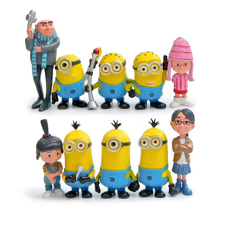 14pcs//lot Minion Miniature Figurines Toys Model Kids Toys Anime Children Figure