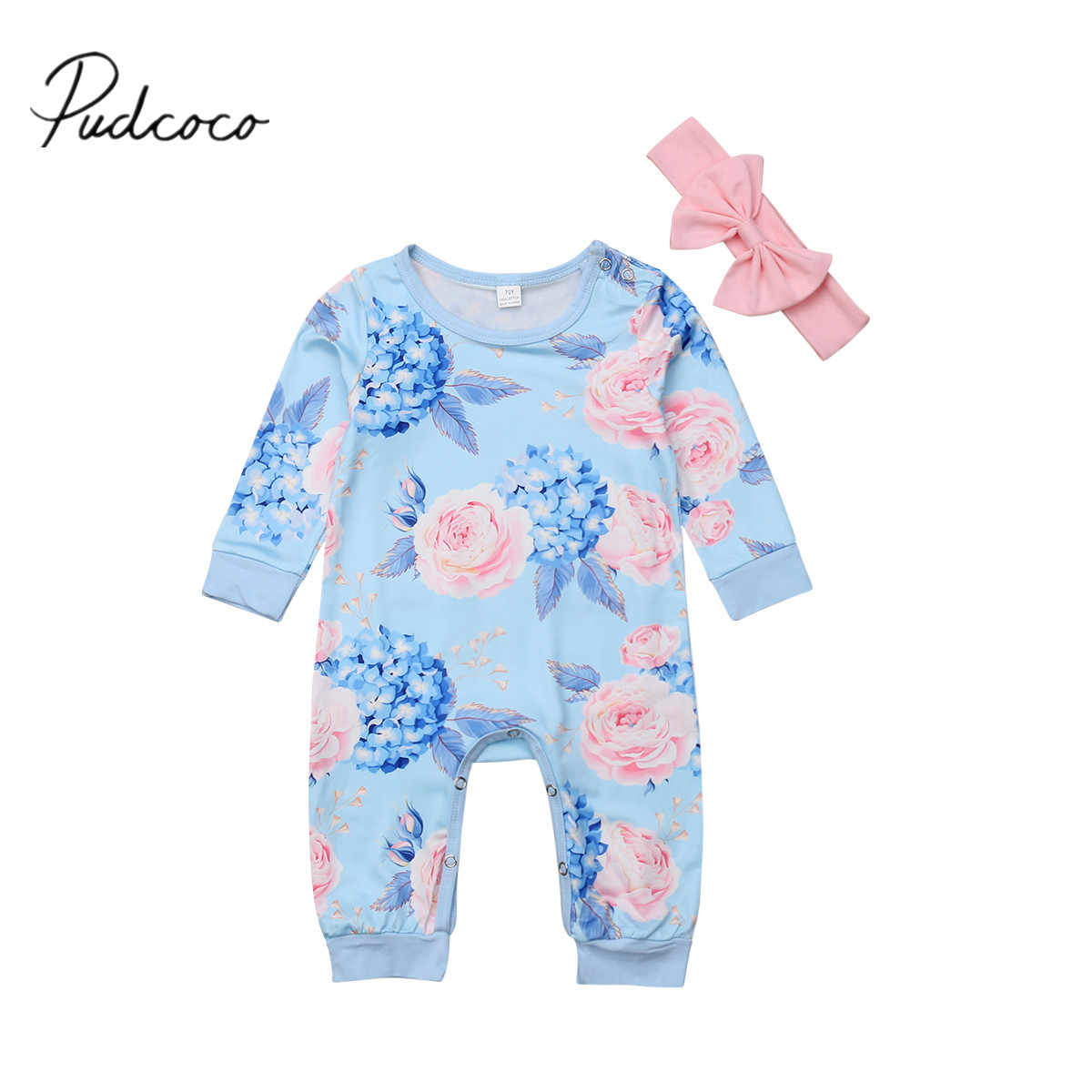 5406bfedc 2018 nuevo 0-24 m niños bebé infantil niñas niños 2 piezas Flora Romper +