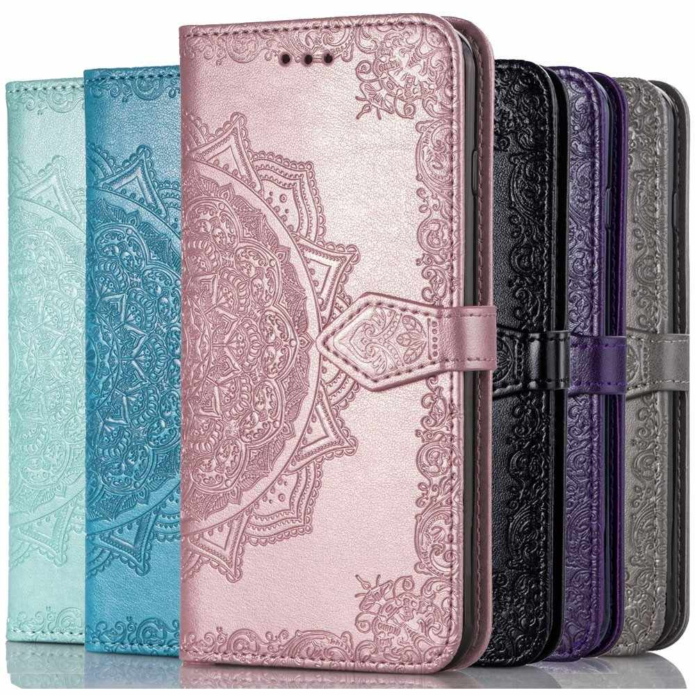 Luxury Leather Flip Wallet Phone Case For Huawei P20 P30 Y6 Y7 Y9 Pro 2018 P Smart Plus 2019 Cover Nova 3i 4 honor 8A V20 Cover
