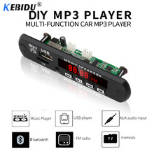 KEBIDU MP3 Player USB TF FM Decoder Board Module MP3 WMA WAV AUX 3.5MM No Bluetooth for Speaker Car Audio With Remote Control(China)