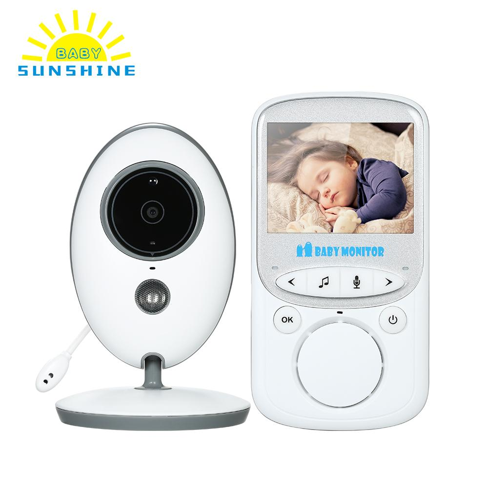 Wireless Video LCD Baby sleeping Monitor 8 Languages User Selectable Camera Baby Sleep Nanny Security video camera monitor