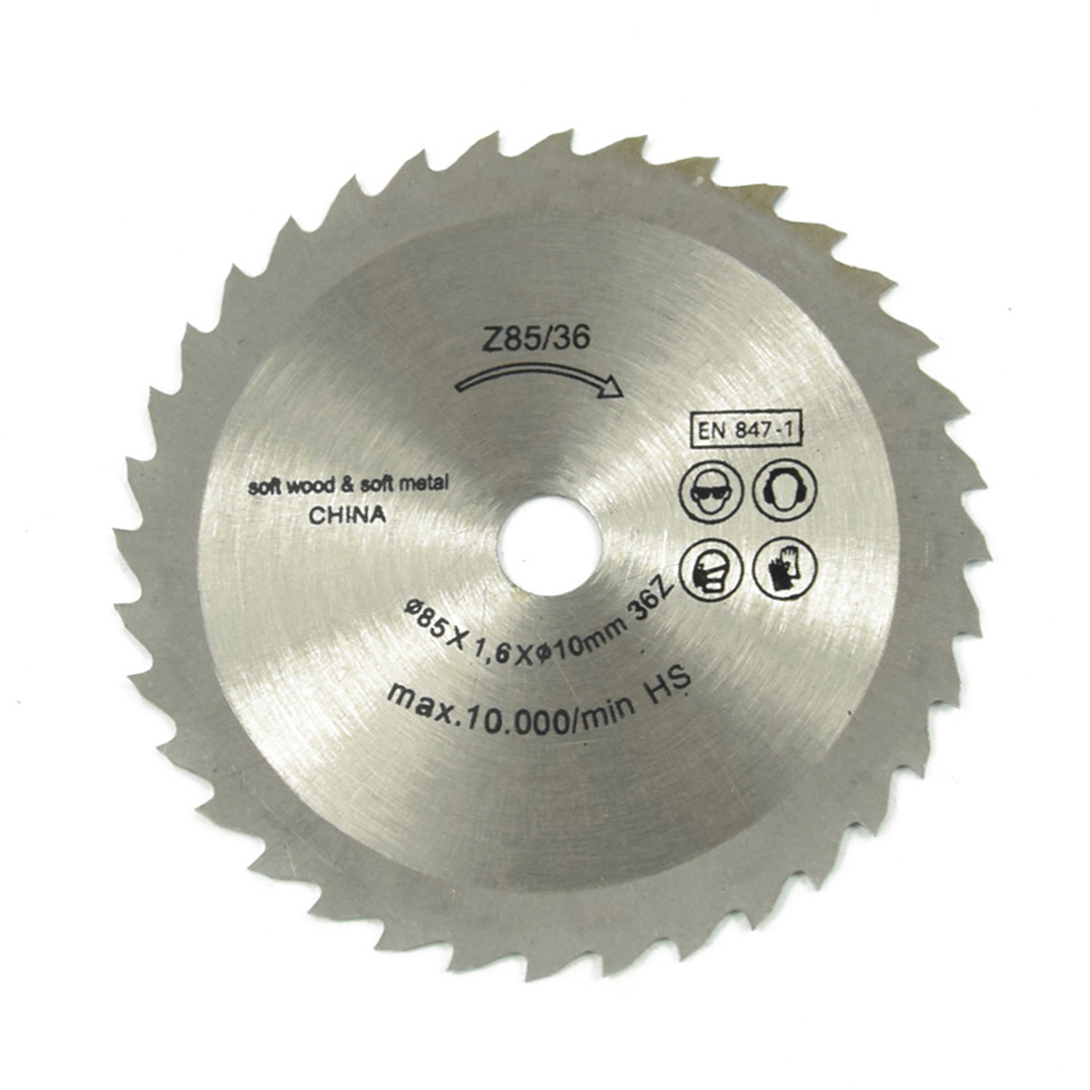 Drillpro 85mm Saw Blade 36 Teeth Circular Cutting Disc 10mm Bore 1.7mm Thickness