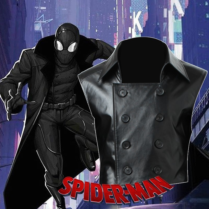 Spiderman Noir Outfits Uniform Props Halloween Cosplay Costume Custom Made