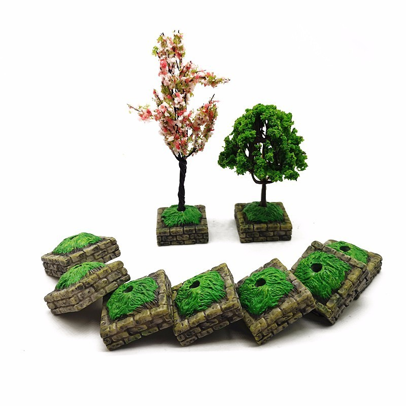 BESTIM INCUK 6-Pack Miniature Fairy Garden Ornament Trees DIY Dollhouse Plant Pot Home Decorationation